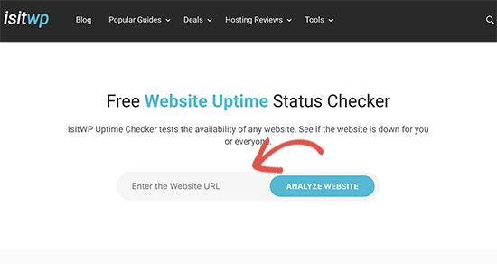 استفاده از ابزار isitwp برای کنترل کردن uptime سایت های وردپرسی